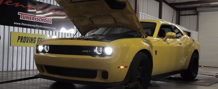 Dodge Demon Hits Dyno On Race Gas Delivers Almost 900 Hp