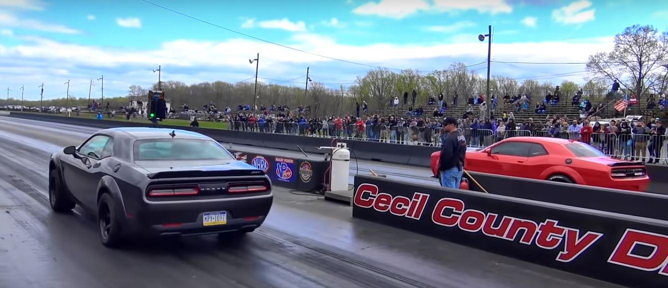 Dodge Demon Vs Dodge Demon Drag Race Brings A Surprise Autoevolution