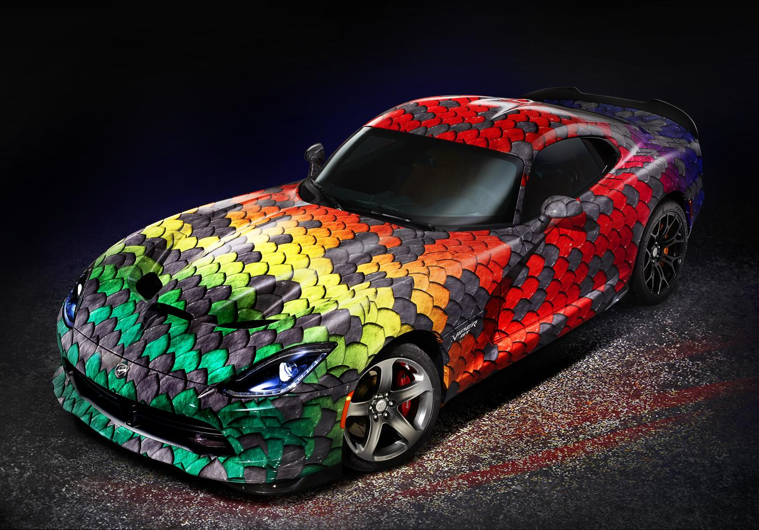 Dodge Viper Gtc Invites You To Taste The Rainbow