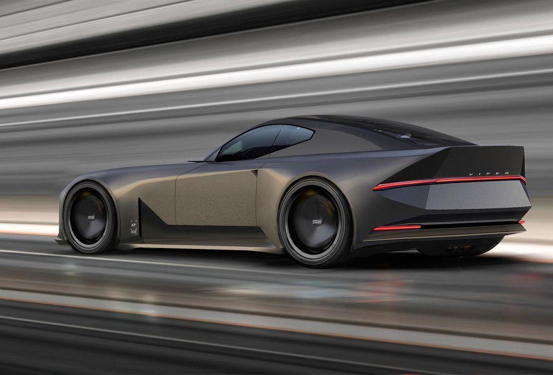 dodge viper electric car Dodge Viper Rendering Gets Legend Into EV Era, Catches a Bit of