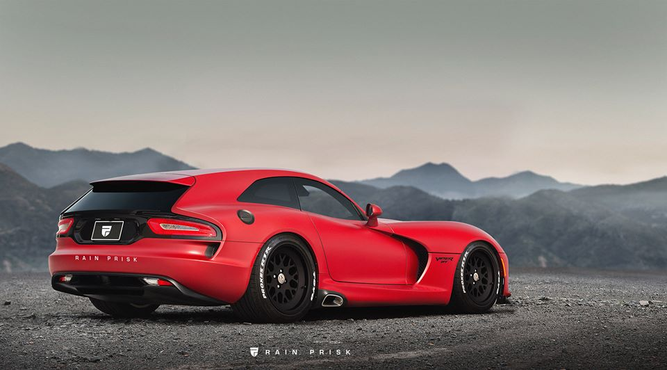 Dodge Viper Shooting Brake Rendered As The Practical