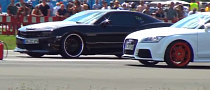 Drag Race: Audi TT RS vs Camaro [Video]