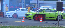 Drag Race: Audi TT RS vs. Dodge Charger SRT8 [Video]