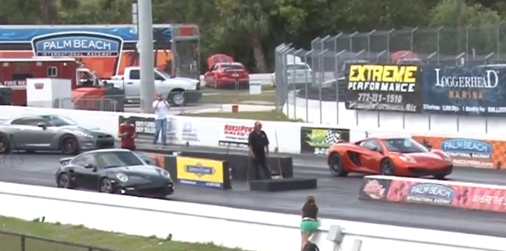 Drag Race: McLaren MP4-12C vs Porsche 911 Turbo S [Video]
