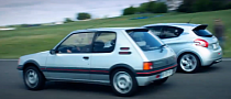 Drag Race: Peugeot 205 GTi vs 208 GTi [Video]