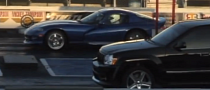 Drag Race: SRT8 Grand Cherokee Almost Wins Against Viper GTS [Video]