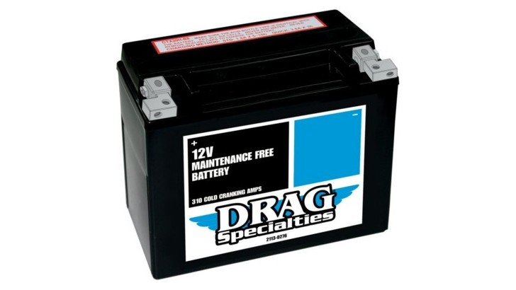 Drag Specialties AGM Maintenance-Free Battery for Large Engines