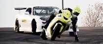 Drift Battle: Corvette Powered RX7 Vs. Kawasaki ZX-10R [Video]