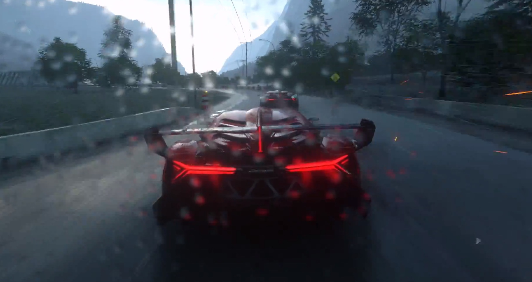 Driveclub Shows Epic Lamborghini Veneno Racing in the Rain ...