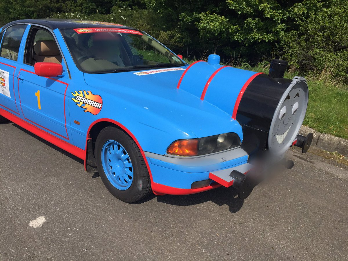 Driver Stopped By Police With Bmw Modified To Resemble Thomas The Tank Engine Autoevolution