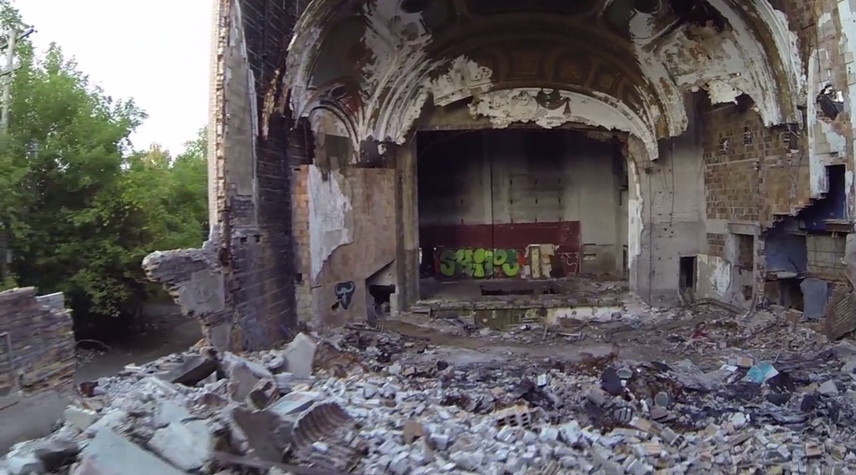 Drone Films Detroit S Abandoned Buildings Painting