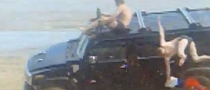 Drunk Russians Ride Hummer on Beach [Video]
