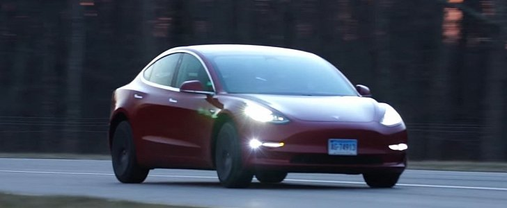 Dual Motor Tesla Model 3 Spotted On The Streets Of San