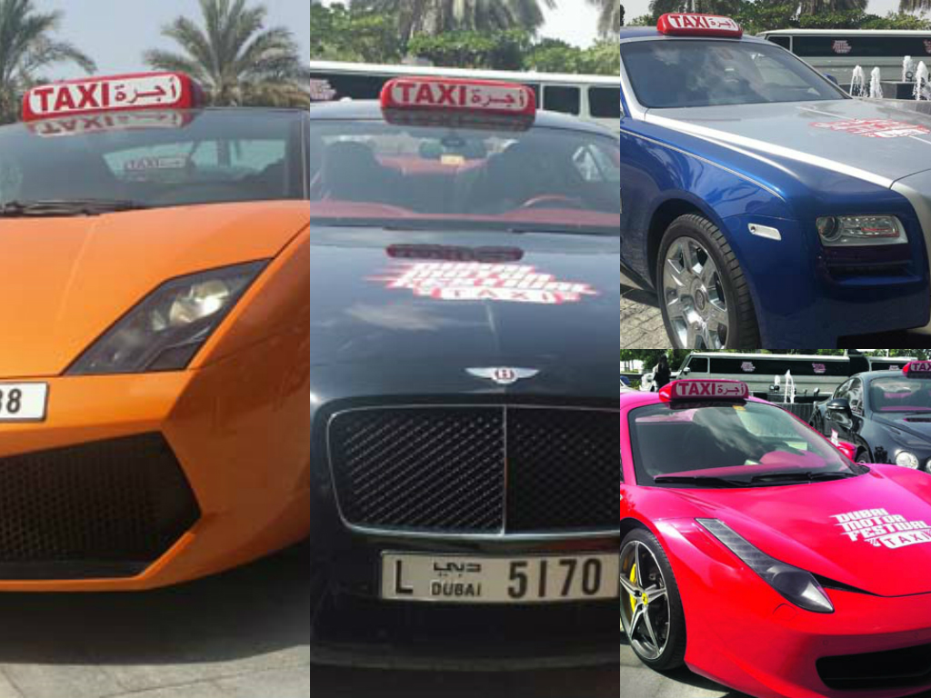 Dubai Supercar Taxi Fleet Heading For Motor Festival Will Offer