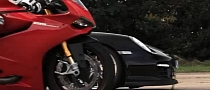 Ducati 1199 Panigale Smoked by Porsche 911 GT2 RS [Video]