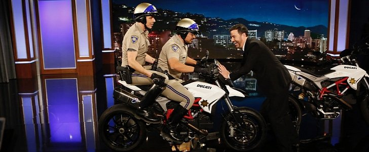 Ducati Hypermotard Lands At Jimmy Kimmel Live Promoting