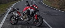 Ducati Multistrada V4 S Comes Out to Play, Looks Stunning on the Road