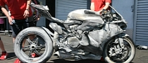 Ducati Panigale Burns after Highside Crash