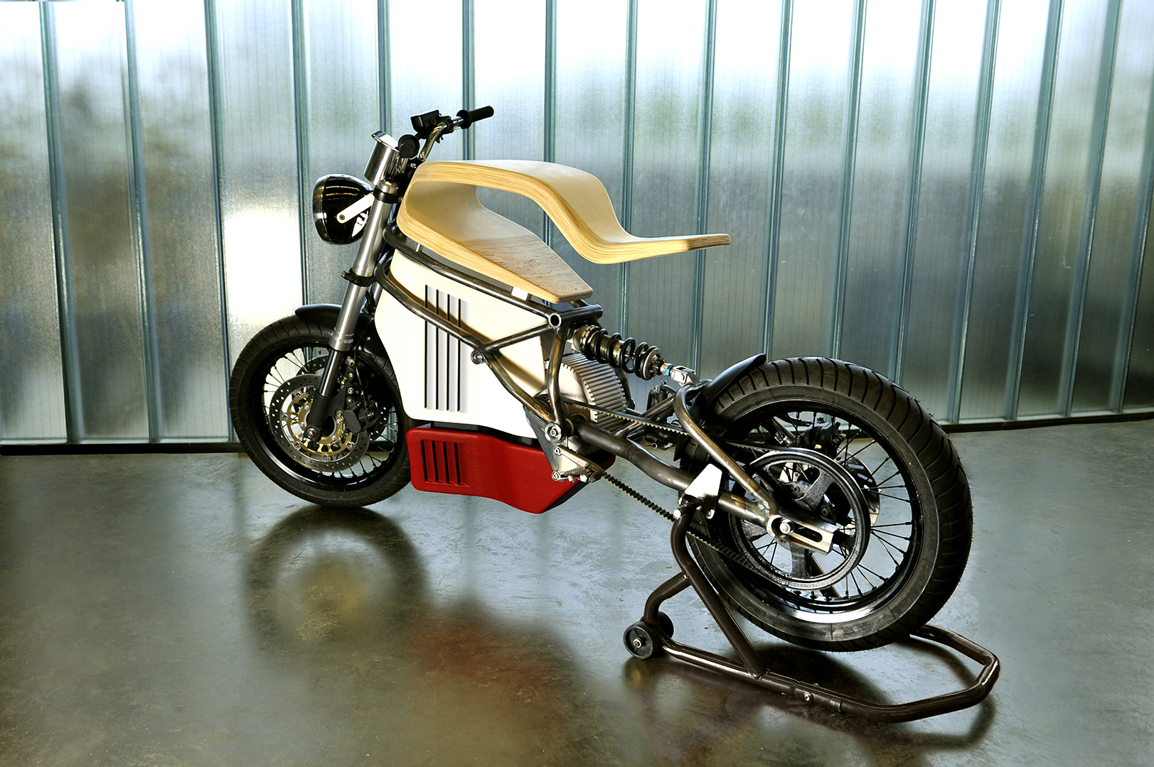 E Raw Is An Electric Cafe Racer Prototype With A Truly Wooden