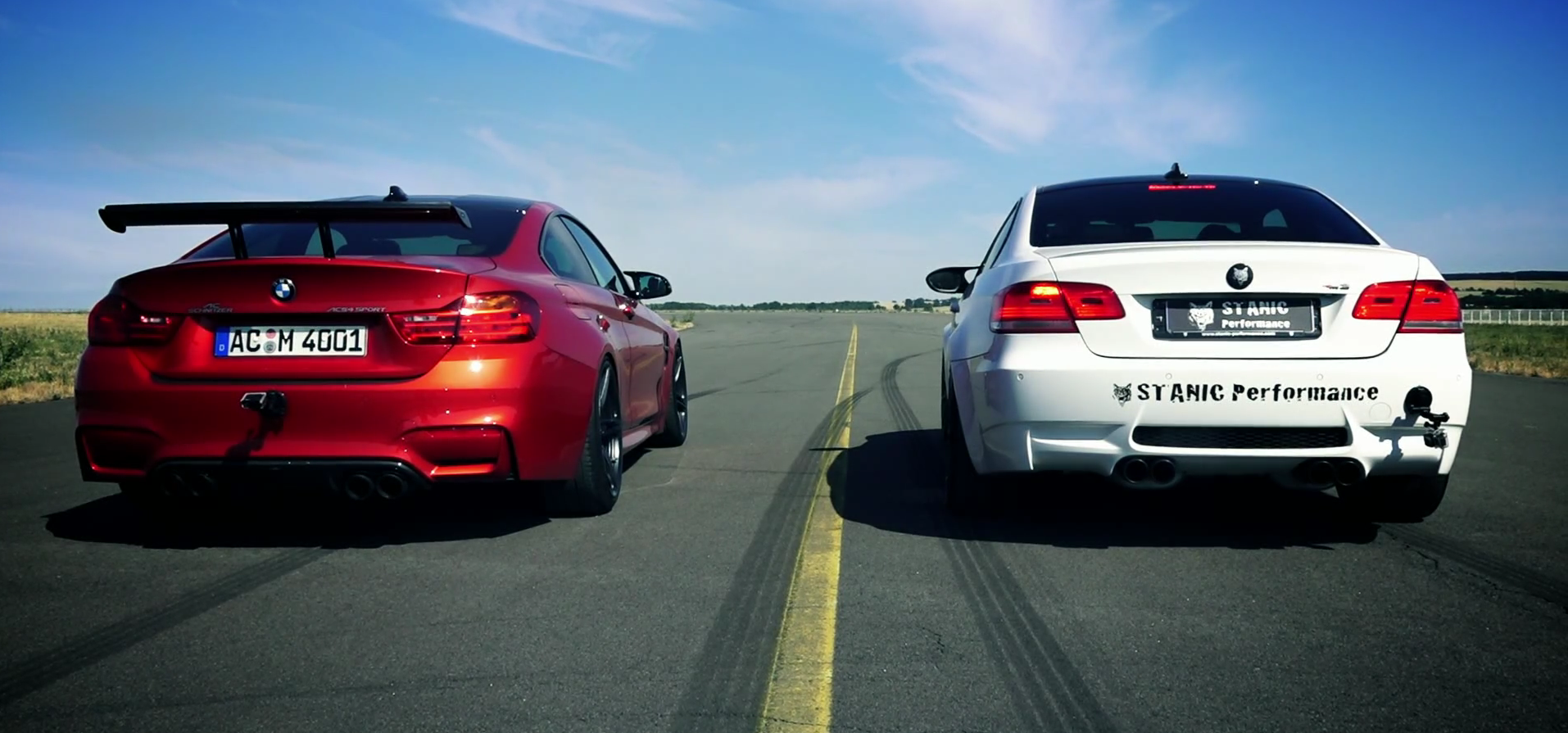 Eargasm BMW E92 M3 with Custom Exhaust Versus AC Schnitzer BMW M4