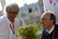 Bernie Ecclestone and Frank Williams go a long way back