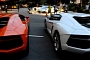 Eight Lamborghini Aventadors in One Place [Video]