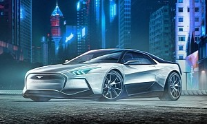 2050 Ford Mustang EV Imagined With Mach-E Face, Proper 2-Door Fastback Body