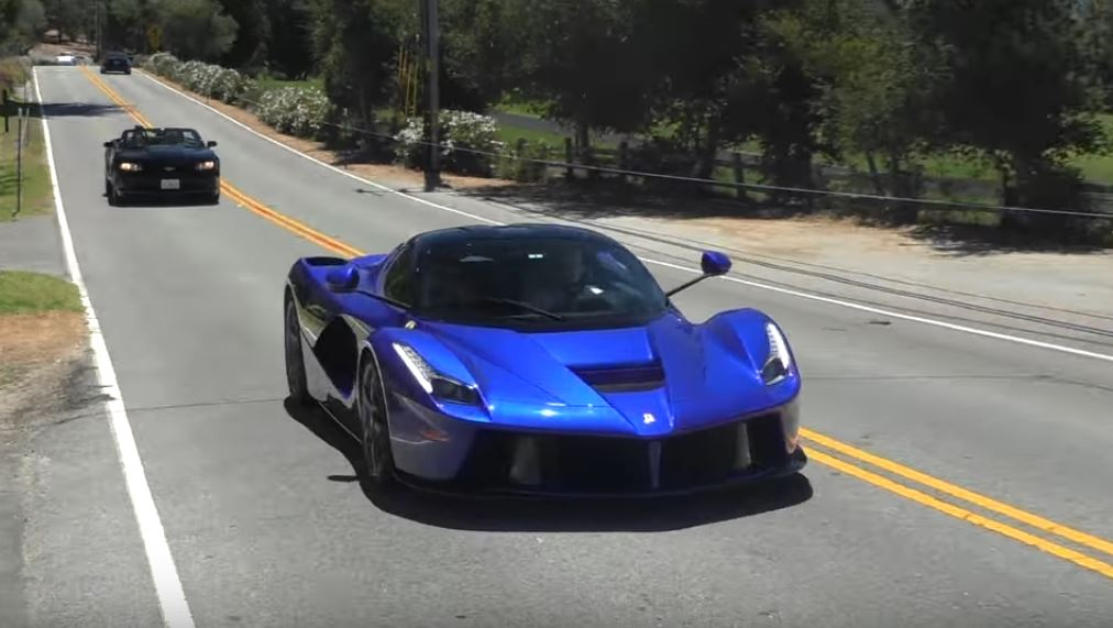 Black And Electric Blue Car