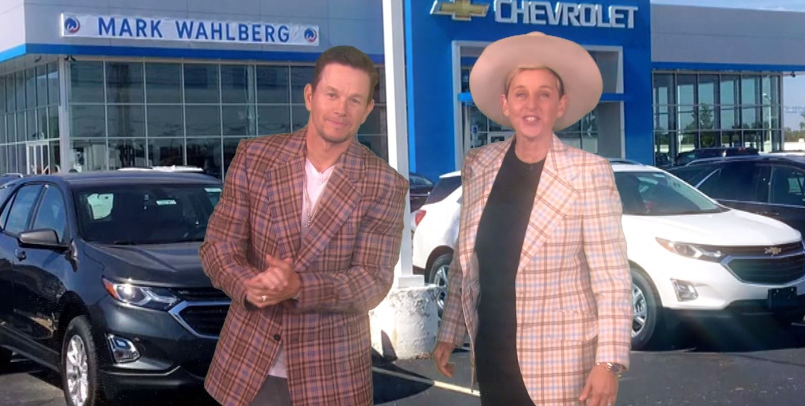 Chevrolet Dealers Columbus Ohio >> Ellen Degeneres Promotes Mark Wahlberg S Chevrolet
