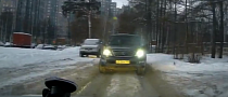 Embarrassing - Lexus GX SUV Can`t Handle Deep Ice Grooves in Town [Video]