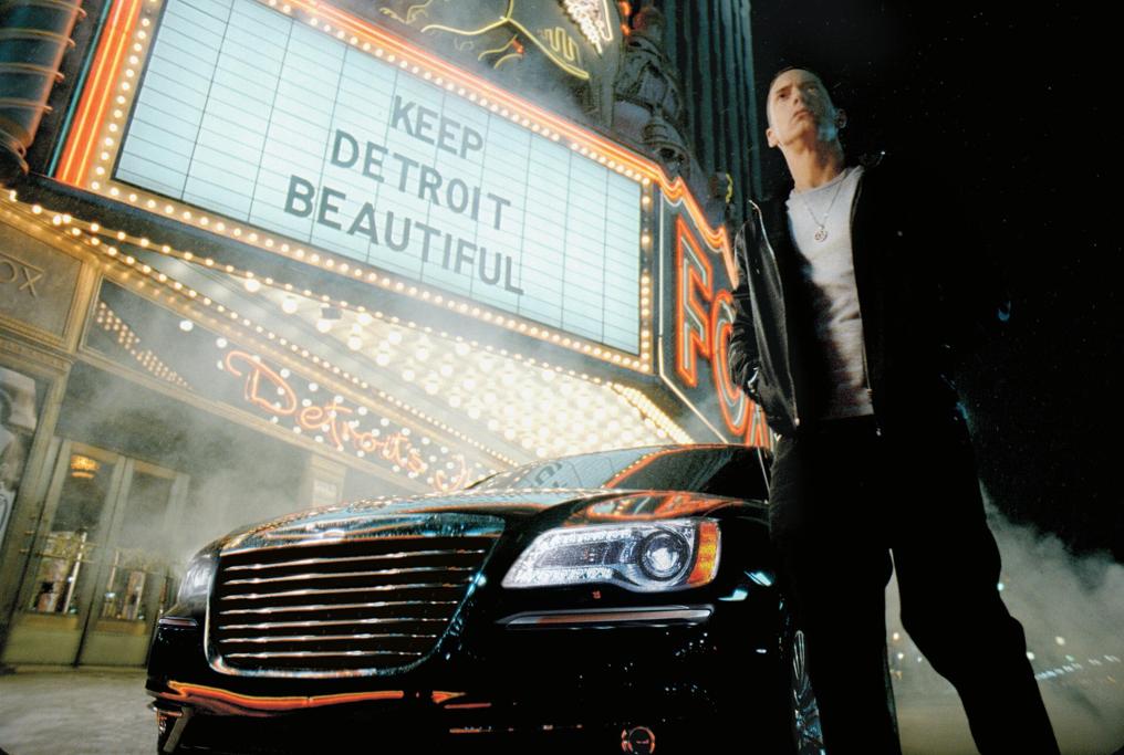 Eminem Helps Promote Chrysler S Nfl Sponsorship In