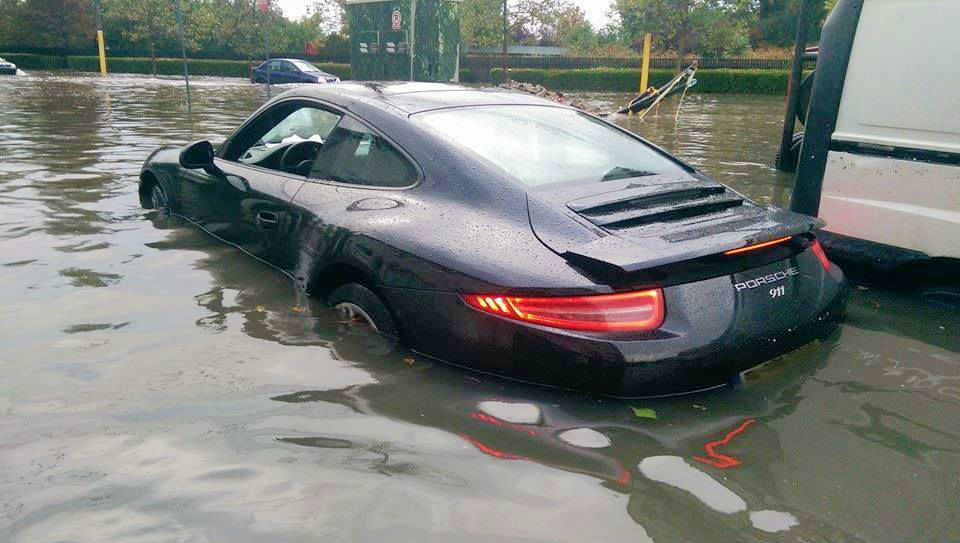 Can Water Damage Car Road