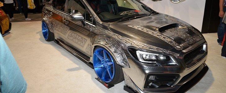 Engraved Subaru Wrx Sti With Widebody Kit Is Pure Art At