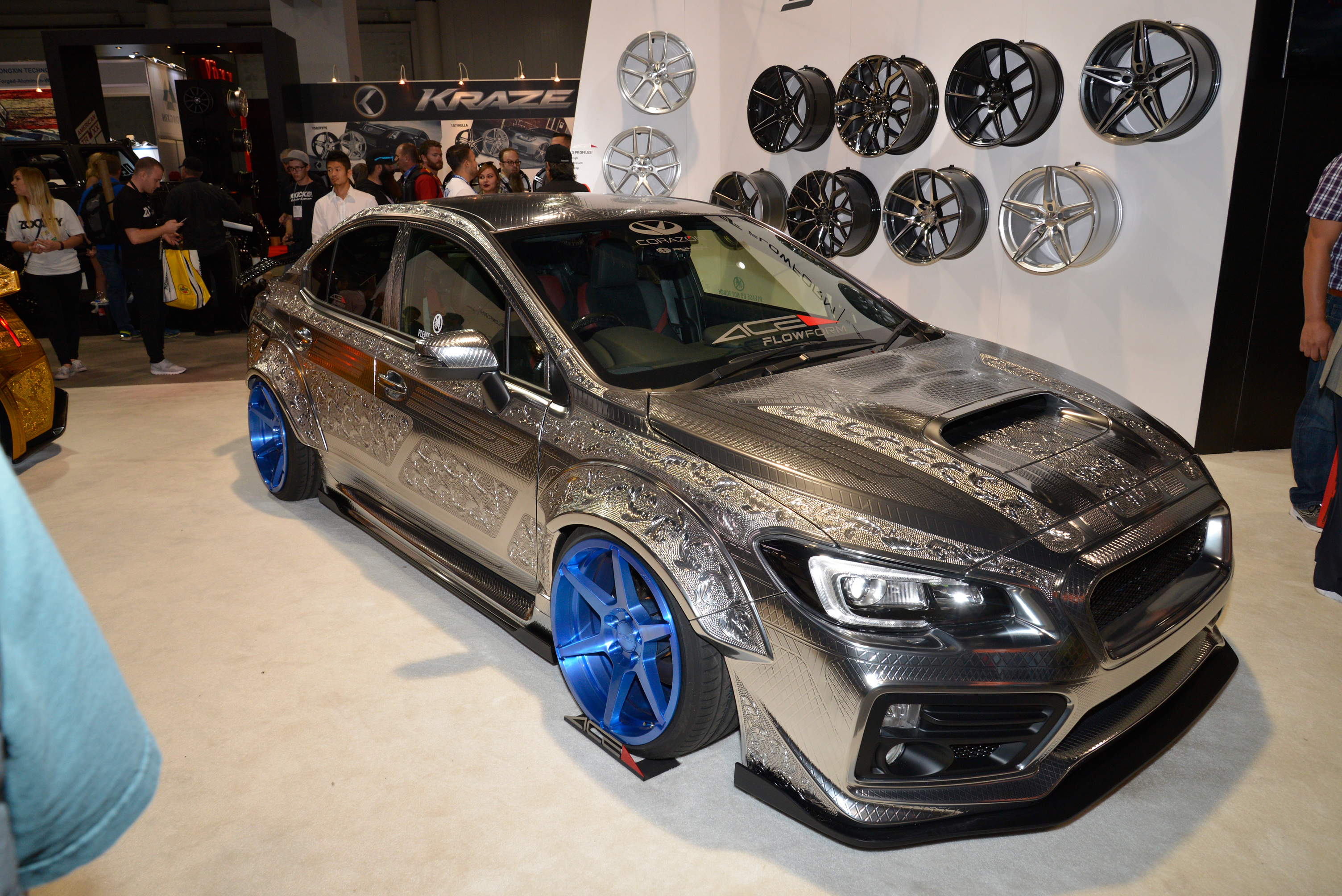 Engraved Subaru Wrx Sti With Widebody Kit Is Pure Art At 2016 Sema