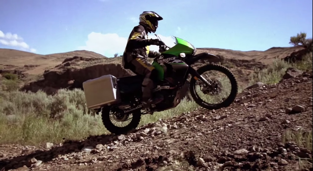 Enjoy This Touratech-Equipped Kawasaki KLR650 Playing in the