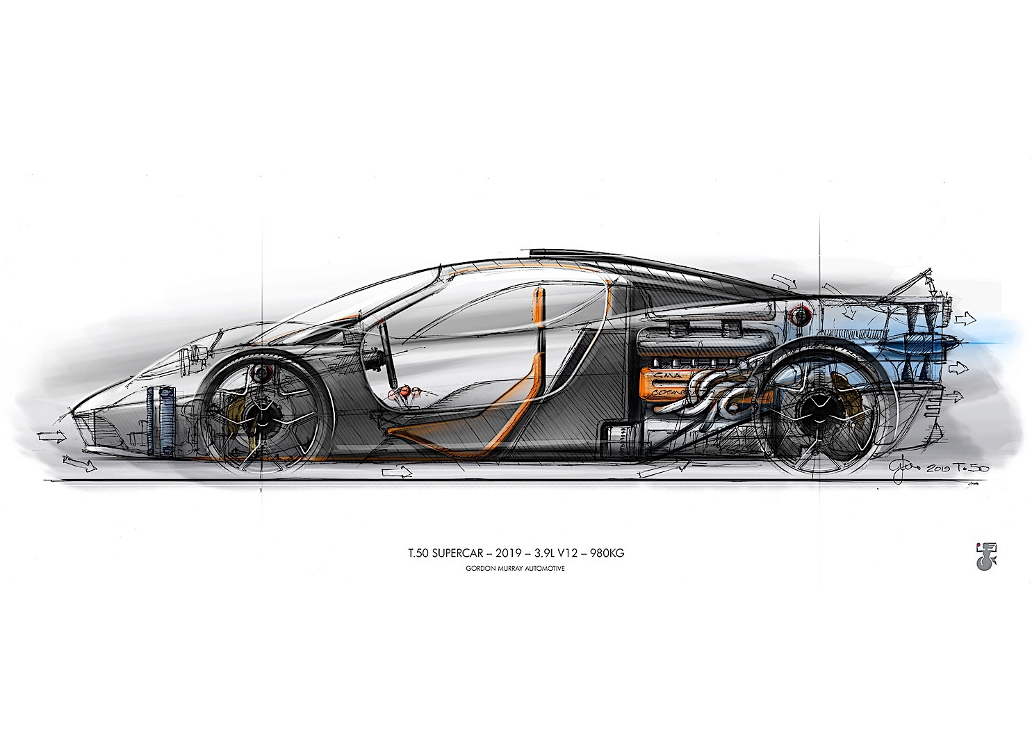 Gordon Murray Automotive T.50 Hypercar Details Come to Light