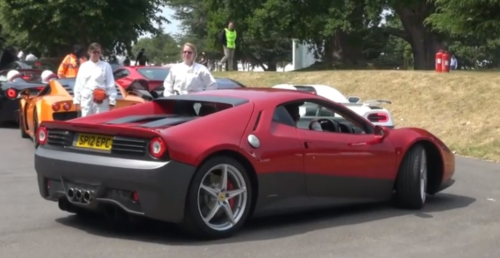 Eric Clapton's Bespoke Ferrari SP12 EC at Goodwood [Video]