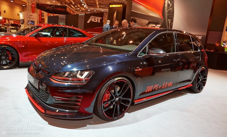 essen 2013 vw golf 7 gti dark edition by abt live photos. Black Bedroom Furniture Sets. Home Design Ideas