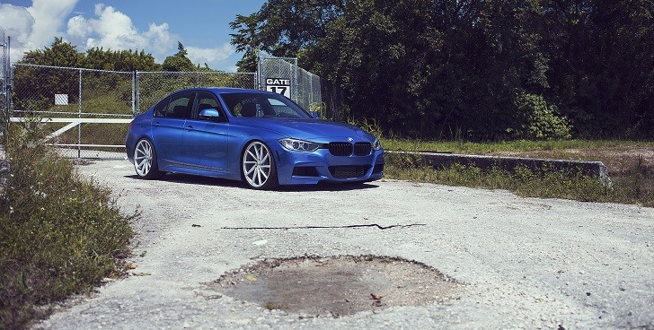 Estoril Blue BMW 335i on Vossen CVT Wheels Looks FUNtastic [Video]