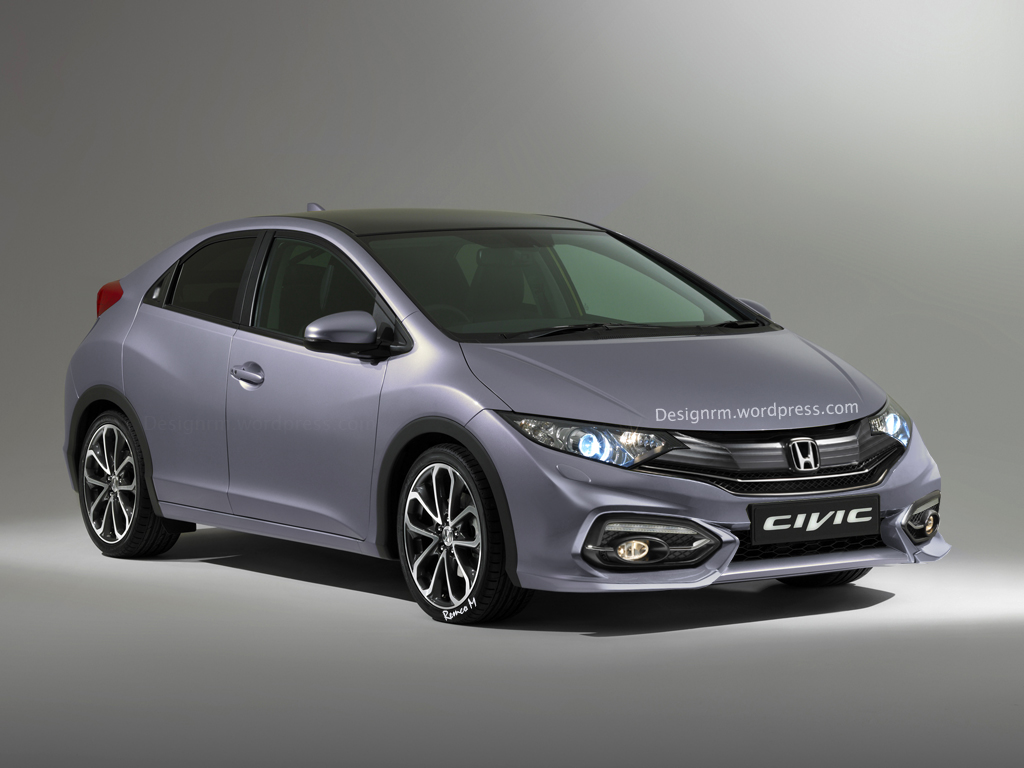 Superior European 2015 Honda Civic Hatchback Facelift Rendered And Detailed