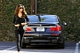 Eva Longoria Drives a New BMW 750Li