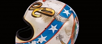 Evel Knievel's Wembley Bruised Helmet Goes under the Hammer