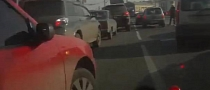 Even Splitting Lanes with Stopped Cars Is Dangerous with Stupid Drivers [Video]