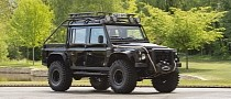 Evil-Looking Land Rover Defender 110 SVX Was an Actual James Bond Villain