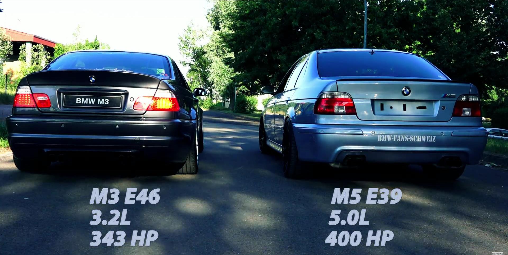 Exhaust Showdown Bmw E46 M3 Versus Bmw E39 M5 Autoevolution