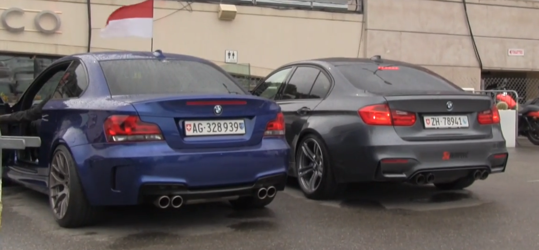 Exhaust Showdown In Monaco Stock Bmw 1m Vs Akrapovic Bmw