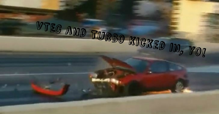 Honda CR-X Blows Flywheel: What Happens when VTEC and Turbo Kick In at the Same Time [Video]