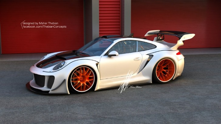 Extreme Tuned Porsche 911 Rendered