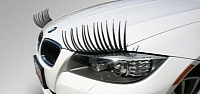 A sight we hope we'll never see: BMW with eye lashes