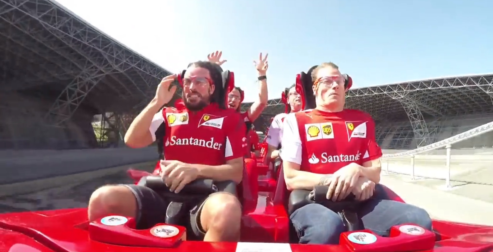 F1 Drivers Raikkonen And Alonso Keep It Cool At 48Gs On A